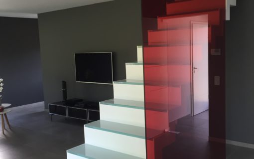 Gekleurd gelaagd glas
