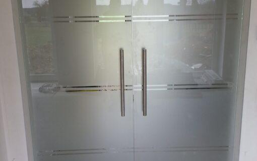 glazen draaideuren