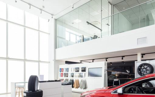 balustraden wanden glazen garage volvo