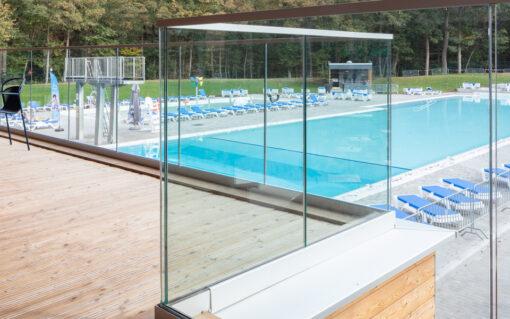 balustrade glazen zwembad eupen