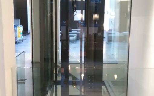 Panoramische liftschachten glas